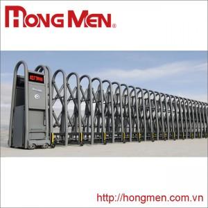 Cửa cổng xếp tự động hợp kim nhôm SQMJ